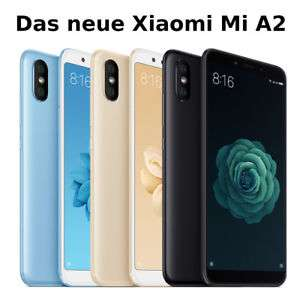Xiaomi Mi A2 - 5,99 Zoll Dual-SIM Smartphone (2.160x1.080, 4GB RAM, 32GB, 20/12/20 MP, Android 8.1 mit Android One, 3.010mAh, USB-C, Quick Charge) Global Version in schwarz oder blau [tekdeal@eBay]