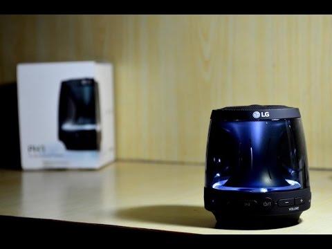 LG PH1 360 Grad Bluetooth schwarz Lautsprecher mit Leuchtfunktion für 11 € inkl VK (Real.de)