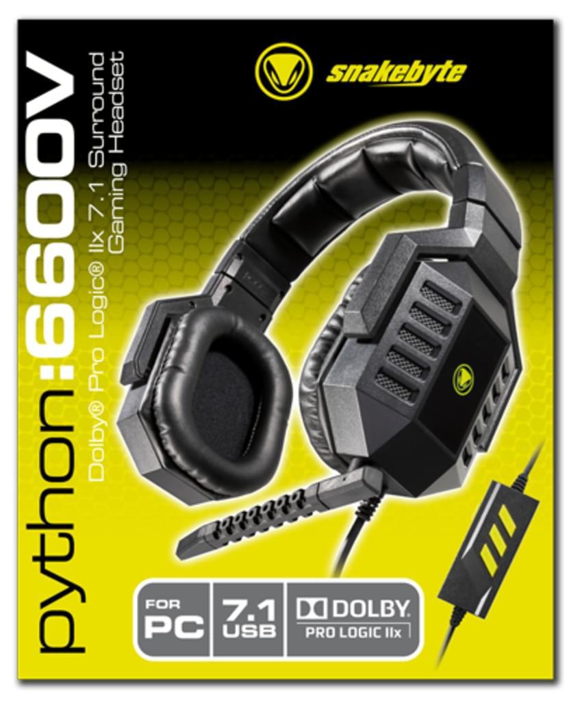 Snakebyte Python 6600V Virtual 7.1 Headset PC