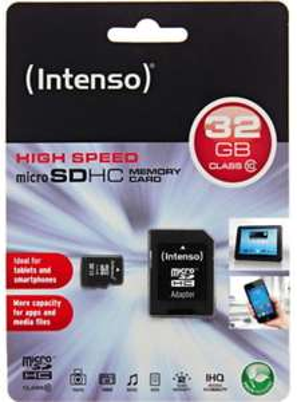 Intenso Micro SDHC Karte 32GB Speicherkarte Class 10 inkl. SDHC Adapter