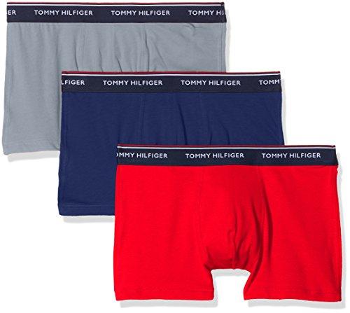 3er Pack Boxershorts von Tommy Hilfiger rot-blau-grau oder blau-grün-türkis, Größen S, L und XL [Amazon prime]