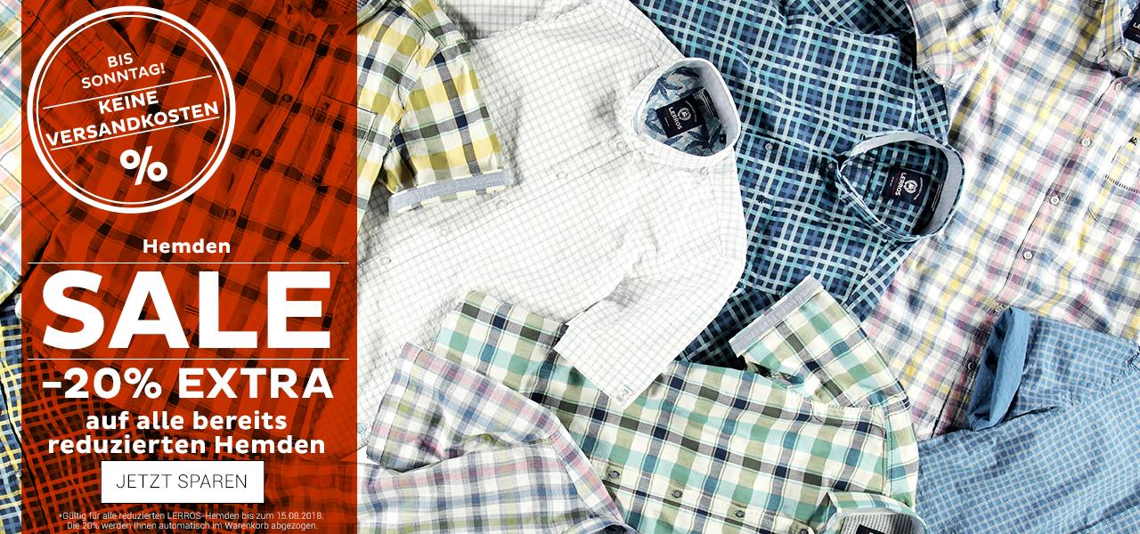 Hemden im Sale + extra 20% Rabatt bei lerros.com