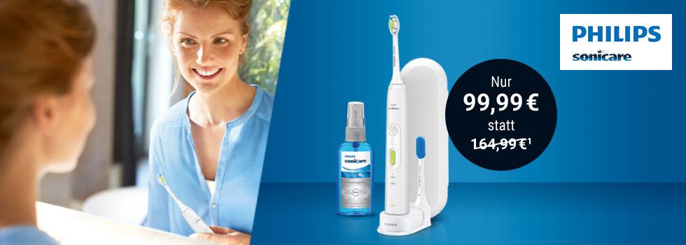 @Tchibo Philips Sonicare HealthyWhite+, inkl. Zungenreiniger und –spray: 99,99 €