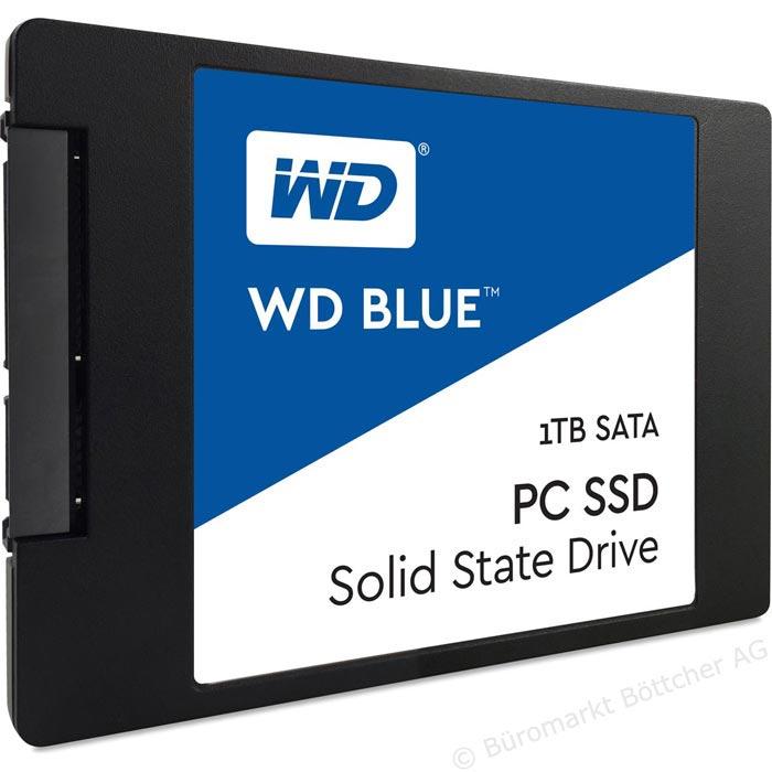 Western Digital WD Blue WDS100T1B0A, 2,5 Zoll, intern, S-ATA III, 1TB SSD [Böttcher AG]