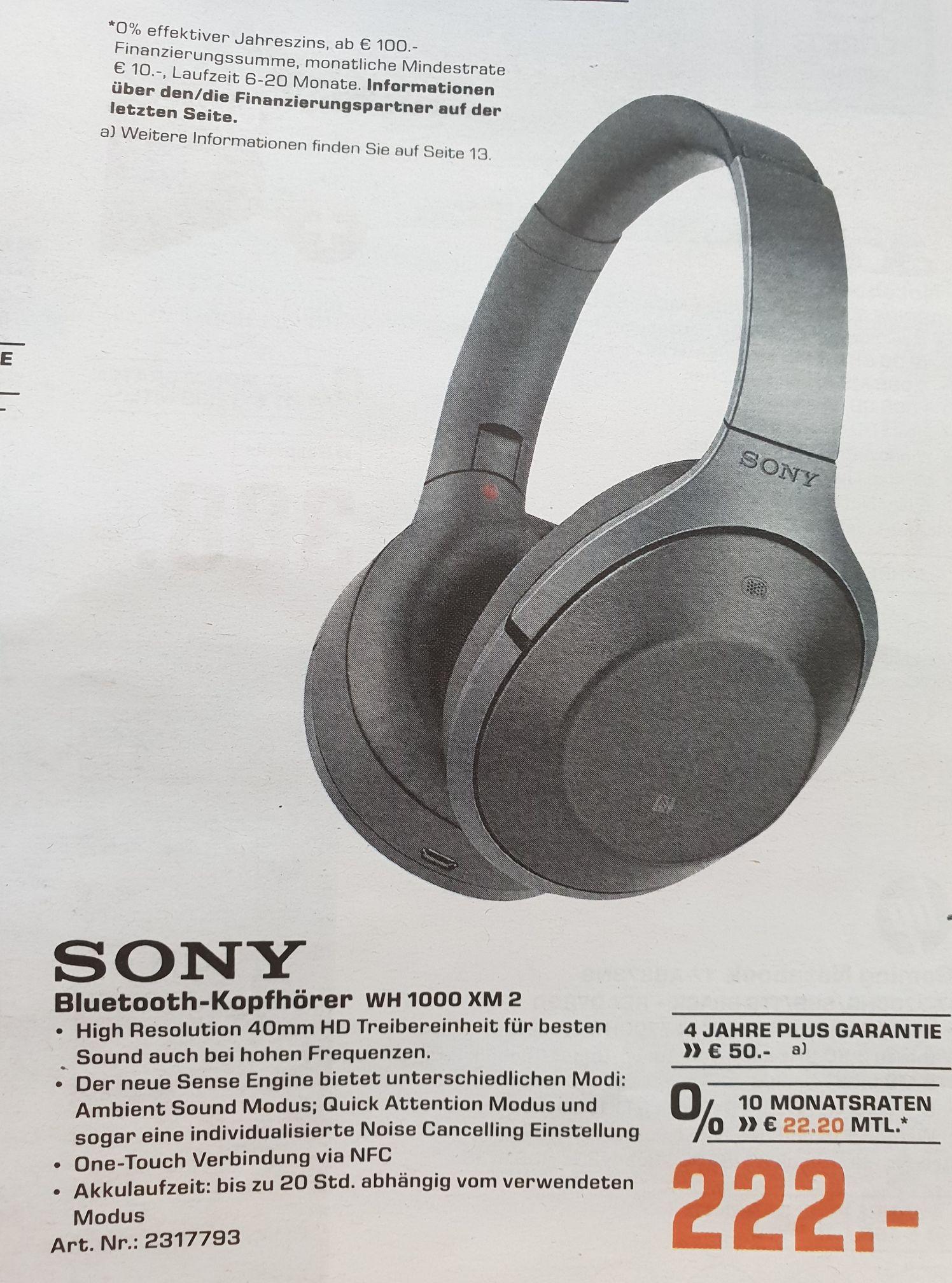 (Lokal) Sony WH 1000 XM 2 NC Kopfhörer offline @ Saturn Karlsruhe