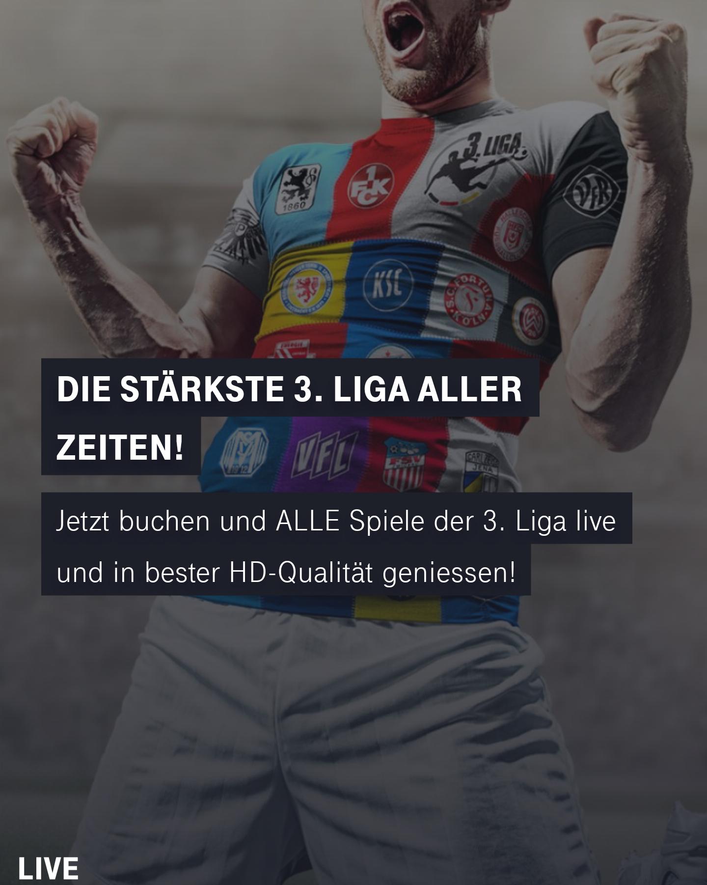 [Telekom Kunden] 3. Bundesliga live 1 Jahr kostenlos