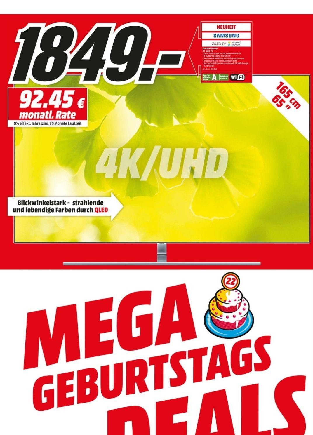 Samsung GQ 65Q7F [Lokal] Media Markt Bischofsheim für Clubmitglieder effektiv 1599€
