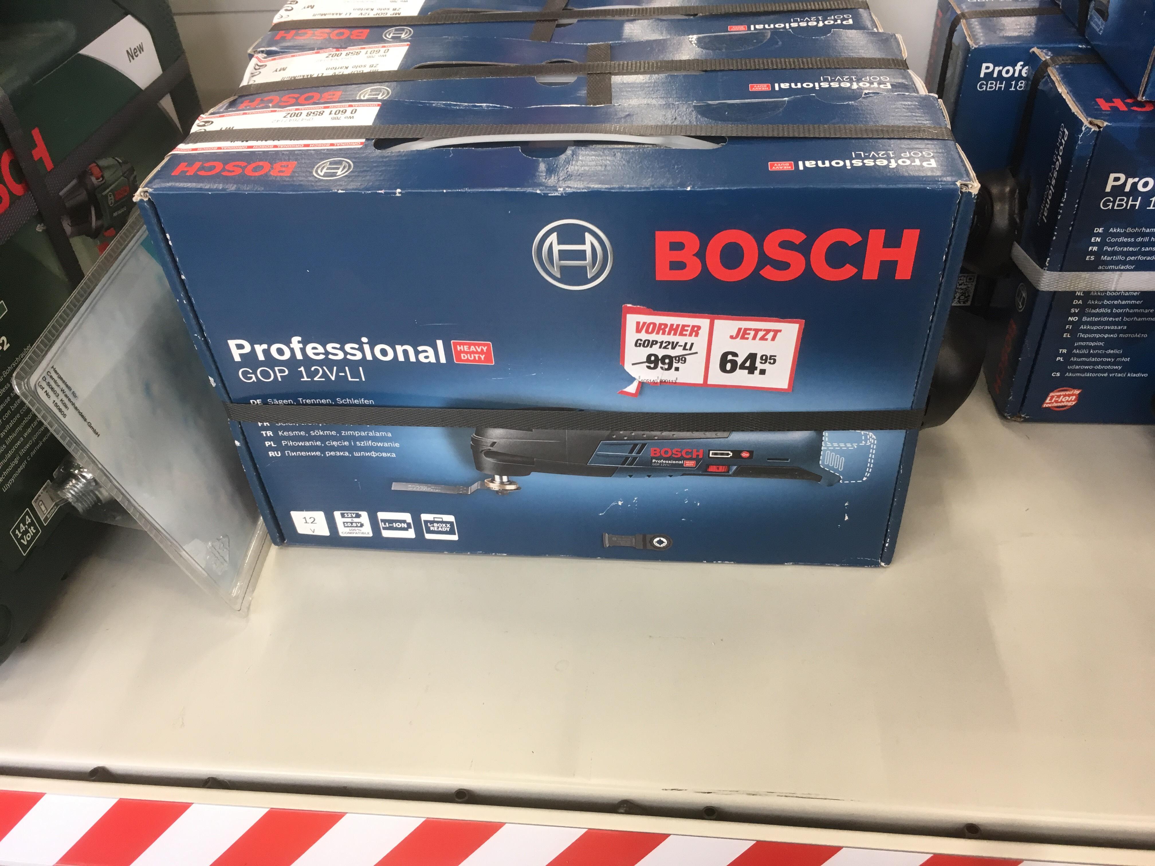 [Lokal Toom Lemgo] Bosch Multitool GOP 12V-Li ohne Akku