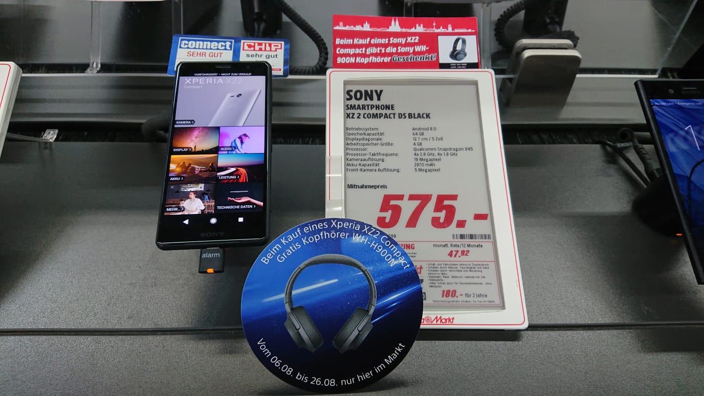 Sony XZ2 Compact + Sony WH-H900N Kopfhörer [Lokal MM Köln Kalk]