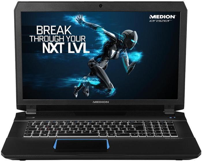 """MEDION ERAZER X7843 Gaming Notebook 17,3"""" Full HD IPS, Core i7-6700HQ, 8GB, 128GB SSD + 1000GB, GTX 980M"""