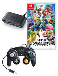 Super Smash Bros. Ultimate Limited Edition [Nintendo Switch] - Originaler GameCube-Controller im Super Smash Bros.-Design samt Vierspieler-Adapter enthalten