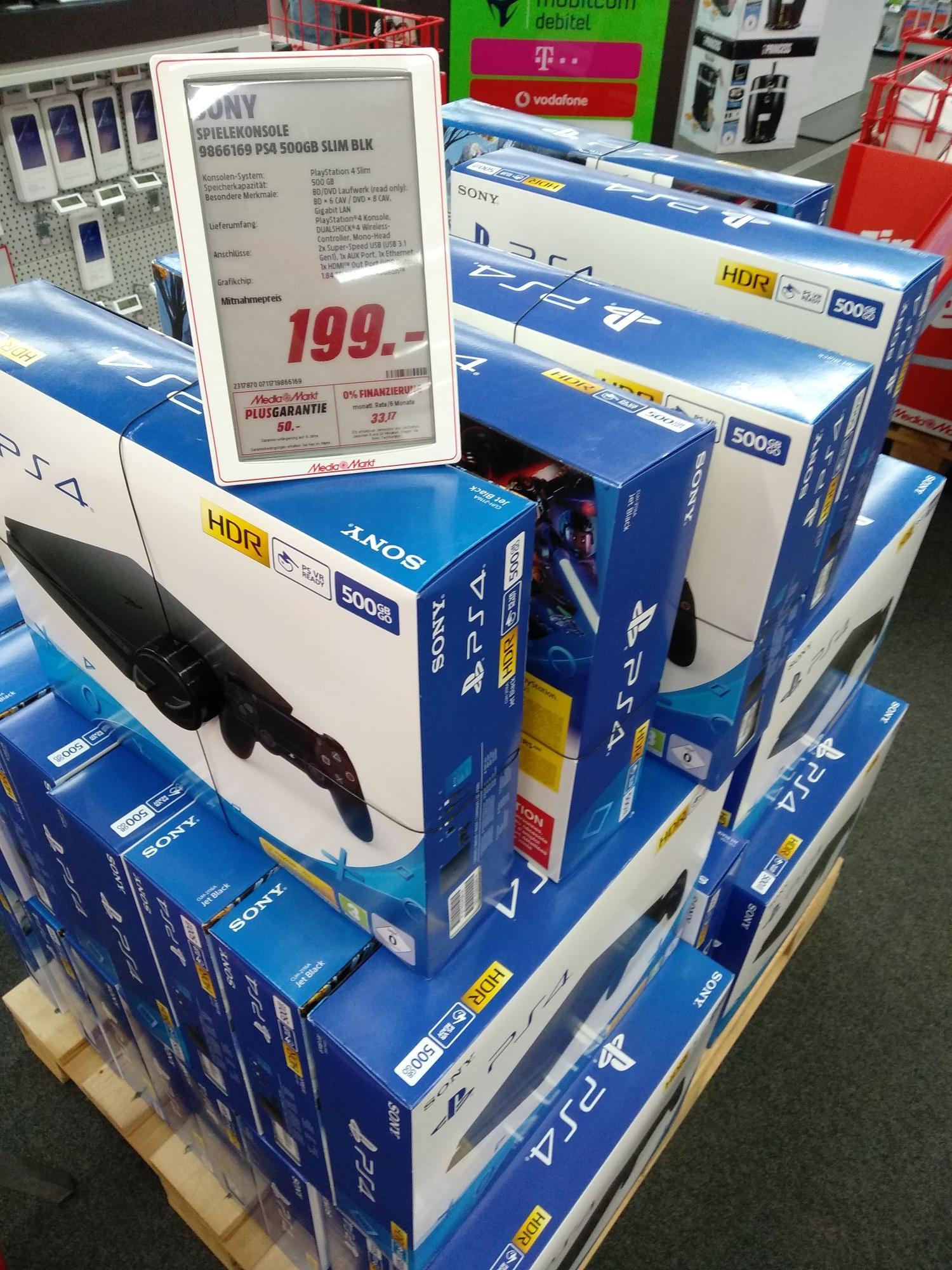 (Mediamarkt Hannover-Wülfel) Playstation 4 Slim 500GB Schwarz