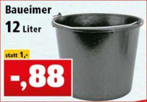 Baueimer 12 Liter für 88 Cent, Baukübel und Bau-Mörtelkasten für je 3,98 Euro  [Thomas Philipps]