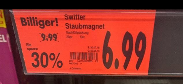 [lokal Gröbenzell] Swiffer Staubmagnet 20er Packung