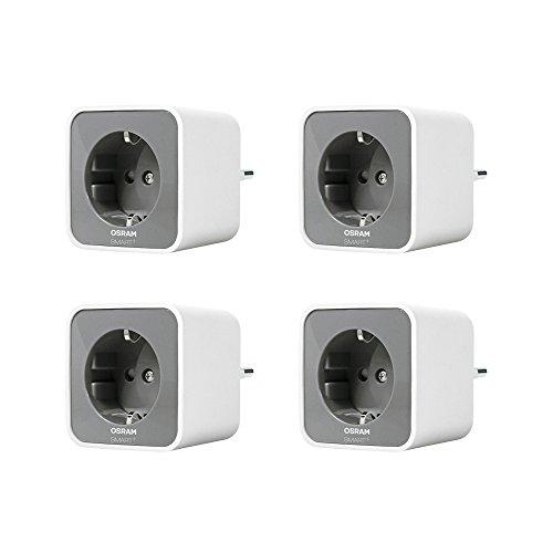 Osram Smart+ ZigBee schaltbare Steckdose, fernbedienbar, für die Lichtsteuerung in Ihrem Smart Home, Alexa kompatibel, 4er Pack für 40,40€ (Amazon IT)