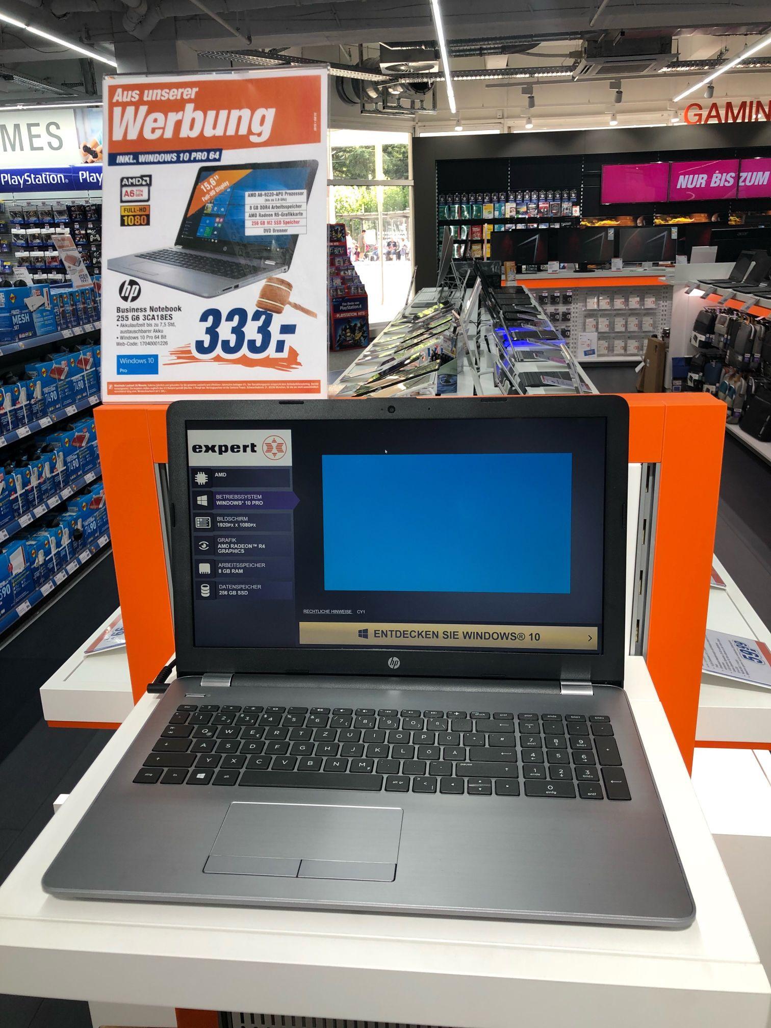 Expert HP 255 G6 Business Notebook 333€ Inkl SSD und Laufwerk