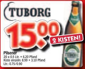 [Braunschweig] 2 Kisten Tuborg Pilsener für 15 Euro (zzgl. Pfand) bei HOL'AB!