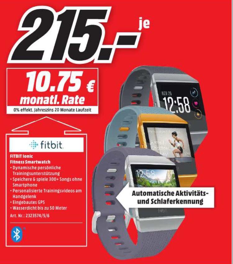 [Lokal Mediamarkt Potsdam] Fitbit Ionic