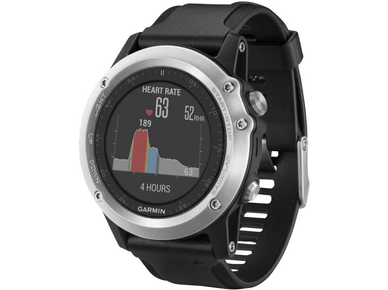 Garmin Fenix 3 GPS-Multisportuhr, Diverse Navigations- und Sportfunktionen 238 mm, Schwarz/Silber für 239€ versandkostenfrei (Media Markt)
