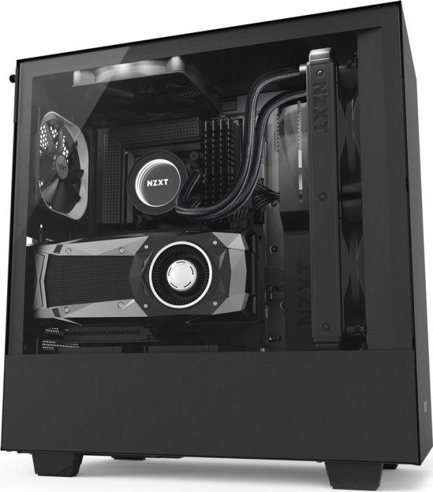 PC Gehäuse NZXT H500i schwarz, Glasfenster (CA-H500W-B1)