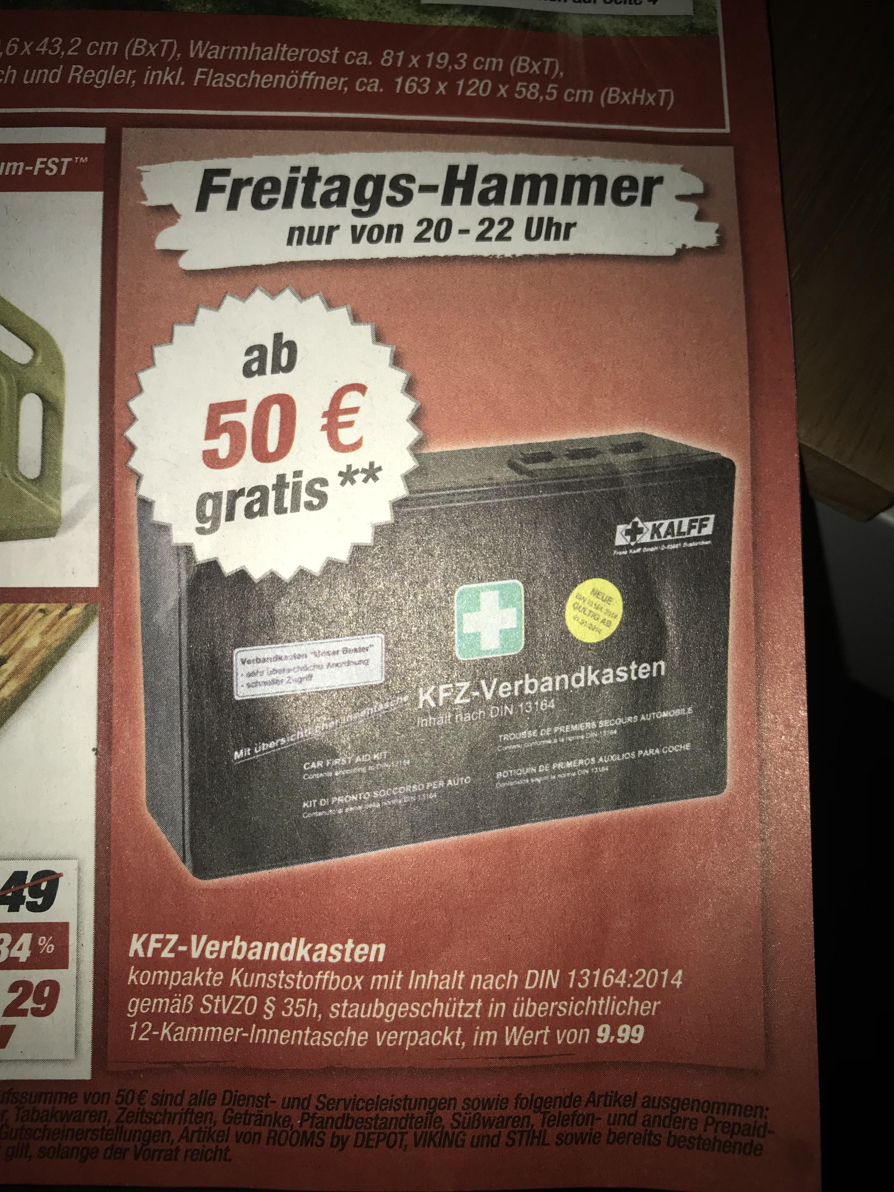 [Toom] Verbandkasten für das Auto bei einem Einkauf von mindestens 50€ gratis
