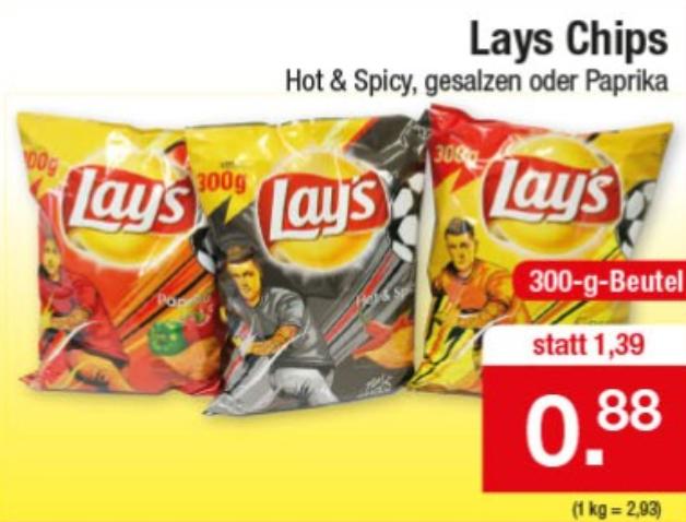 [Zimmermann] Lay's Chips 300g für 0,88€