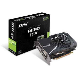 3GB MSI GeForce GTX 1060 AERO ITX 3G OC Aktiv PCIe 3.0 x16 (Retail)
