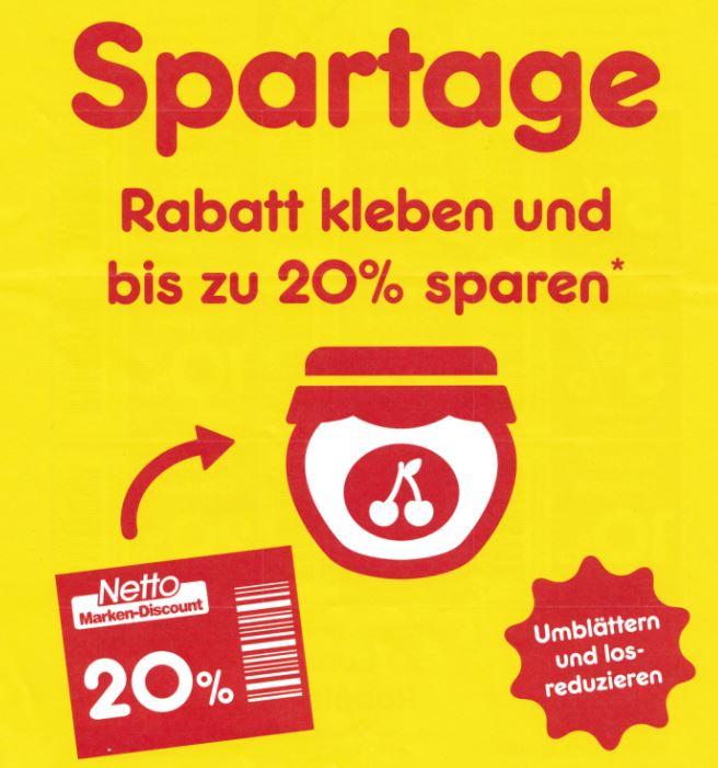 [Netto Marken-Discount] Spartage: 5%, 10%, 20% reduzieren Sie selbst!