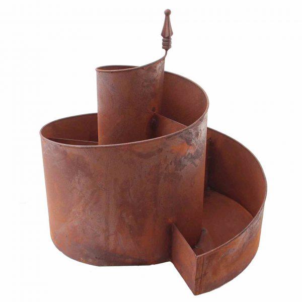 Für den grünen Naturgarten - Kräuterspirale aus Eisen (Naturrost)