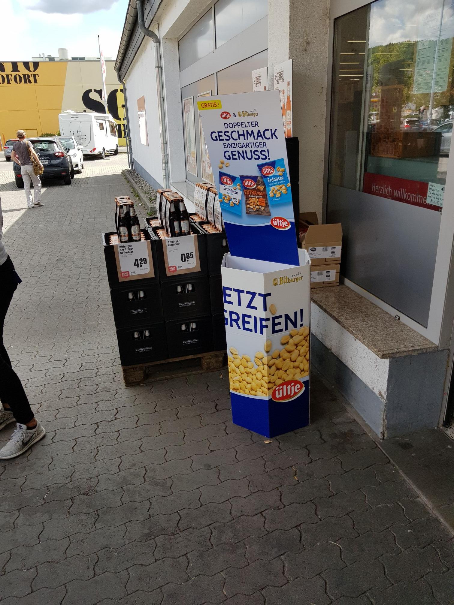 Gratis Bitburger Kellerbier und Erdnüsse [Gründau Lieblos]