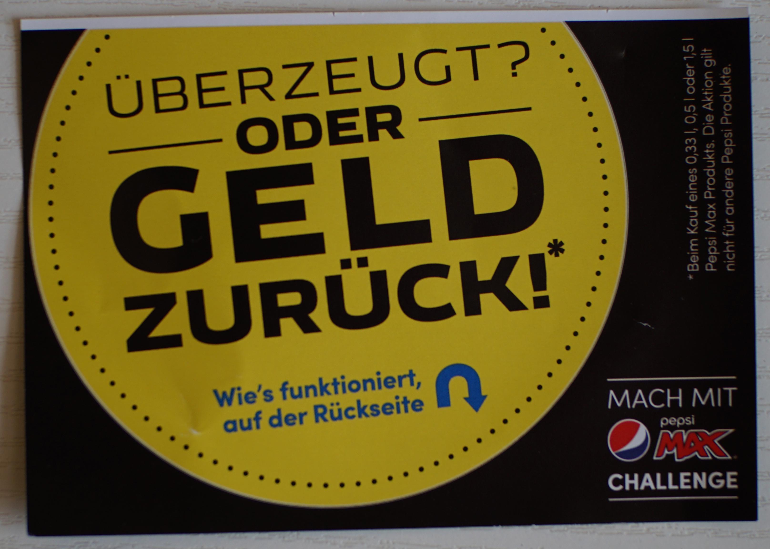 [GzG] Pepsi Max 0,33l, 0,5l oder 1,5l gratis testen