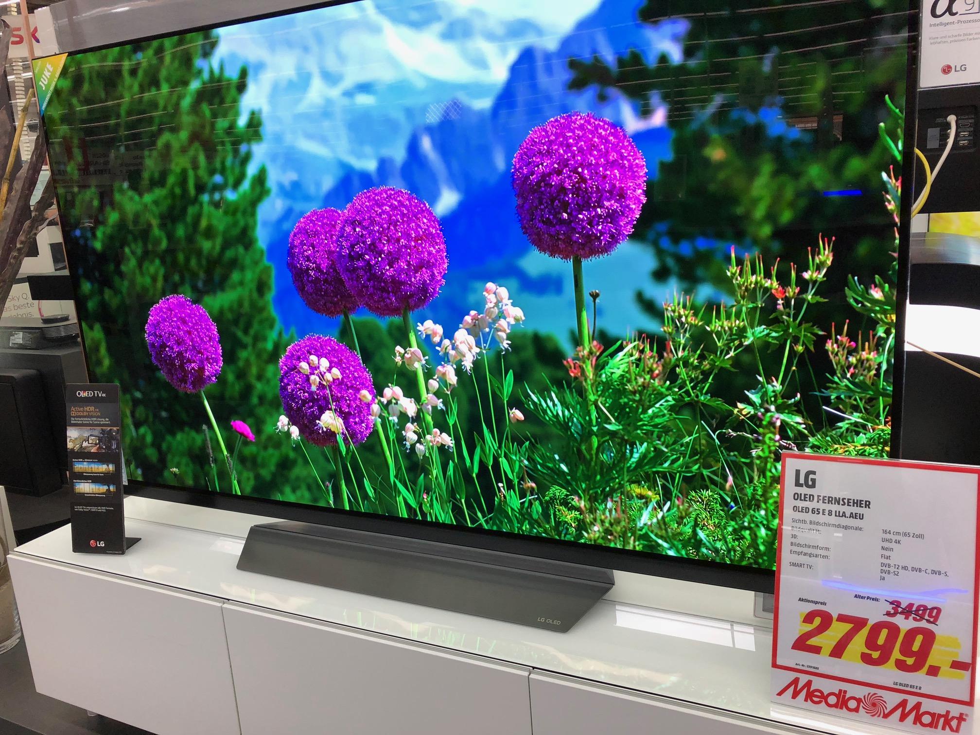 [Lokal] Media Markt Köln Arcaden OLED TV LG 65E8 / 65 E 8 2018 Modell