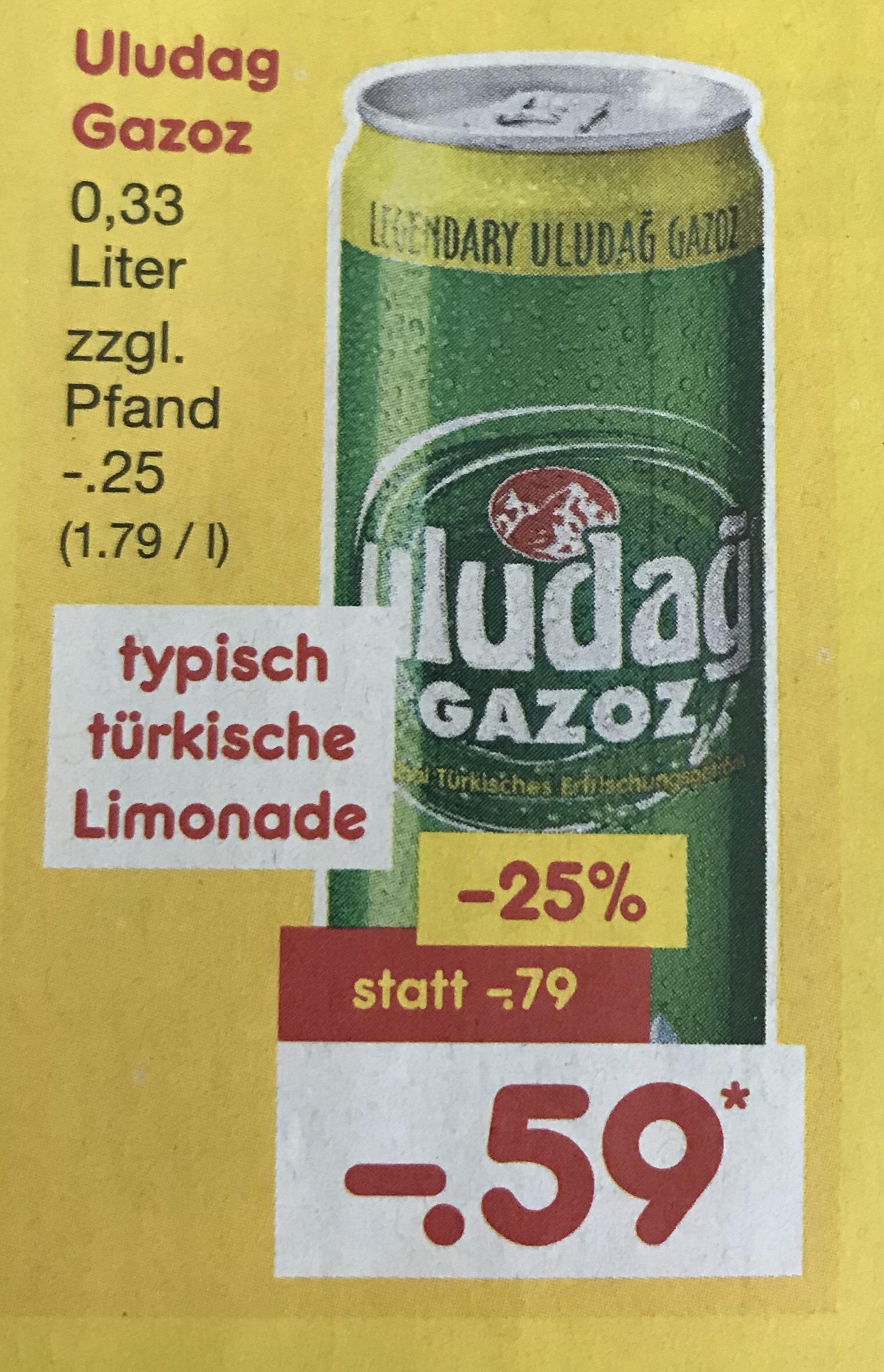 [Netto MD] Uludag Gazoz 0,33 für effektiv 0,48€ lokal Duisburg