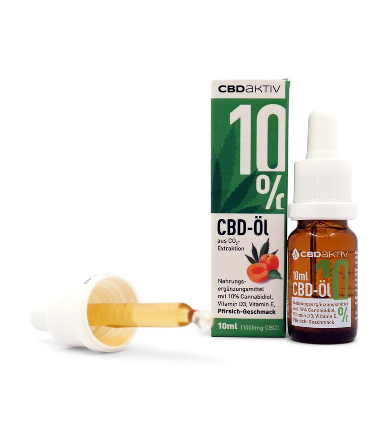 CBDaktiv-Öl alle Konzentrationen mit 10% Rabatt vom 10.08 - 24.08 (CBD = Cannabidiol)