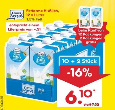 [Netto MD] fettarme Milch 12×1 Liter (0,51 €/l) mit Coupons noch etwas günstiger