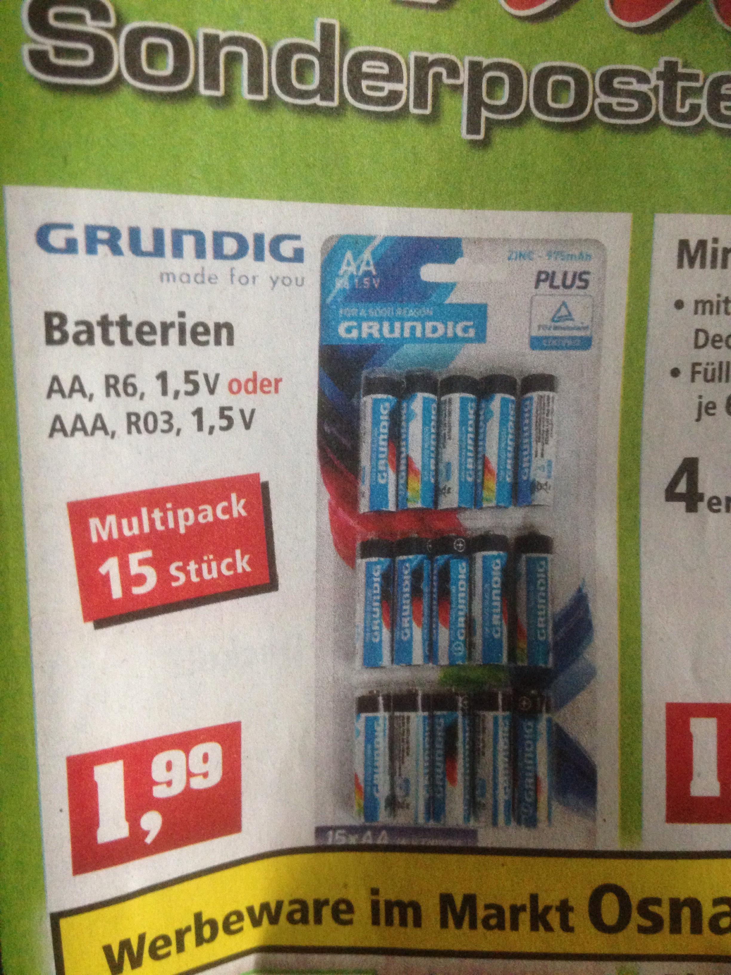 Thomas Philipps 15 Grundig AA oder AAA Batterien für 1,99. 25 KG Buntkies 1,99€