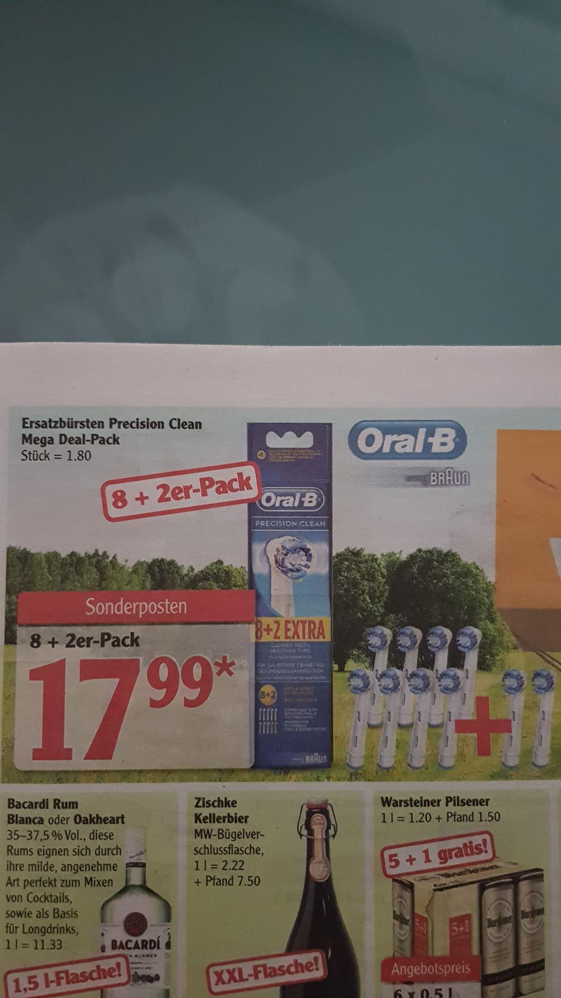 (Lokal) Braun Oral-B Ersatzbürsten Precision Clean 8+2