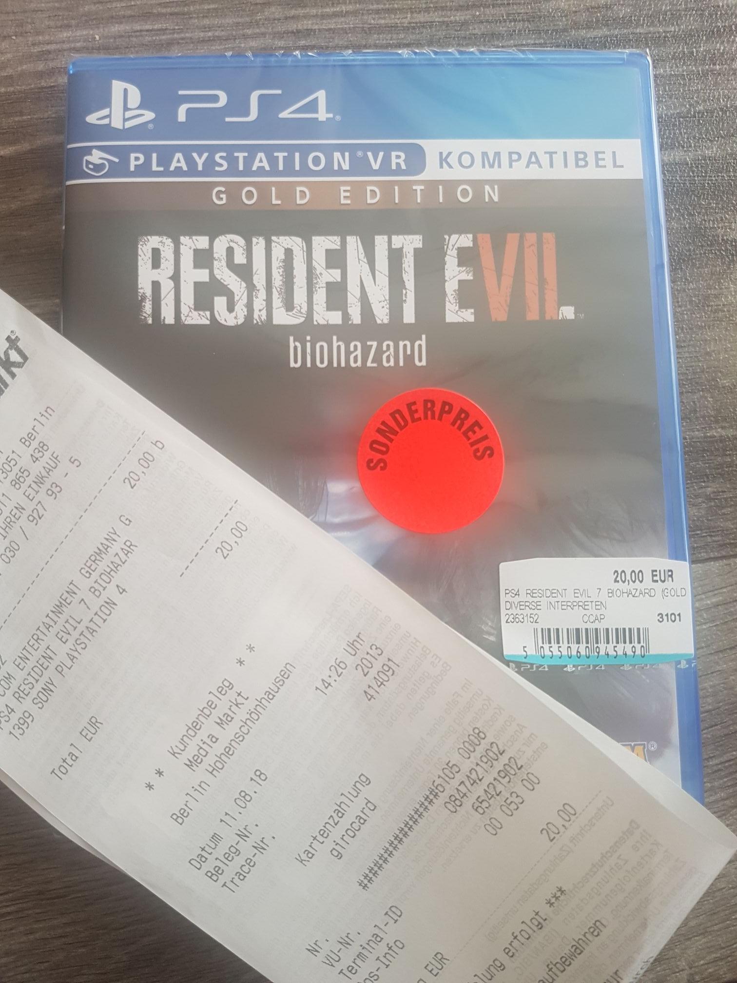 (Lokal MM Berlin Lindencenter)Resident Evil Biohazard Gold Edition PS4
