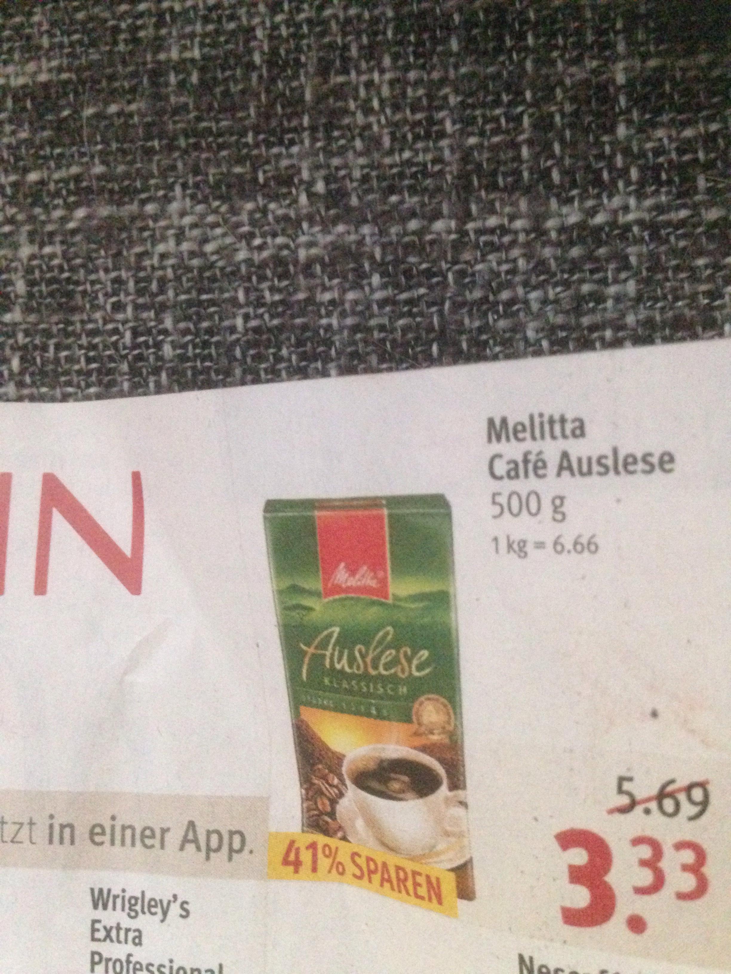 Rossmann Angebot Melitta Kaffee versch. Sorten für 2,99€ mit der App