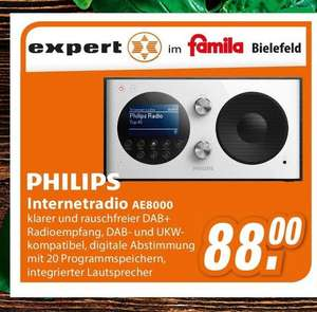[ lokal Bielefeld ] Philips DAB+ Internetradio AE8000 für 88€ @ expert Famila