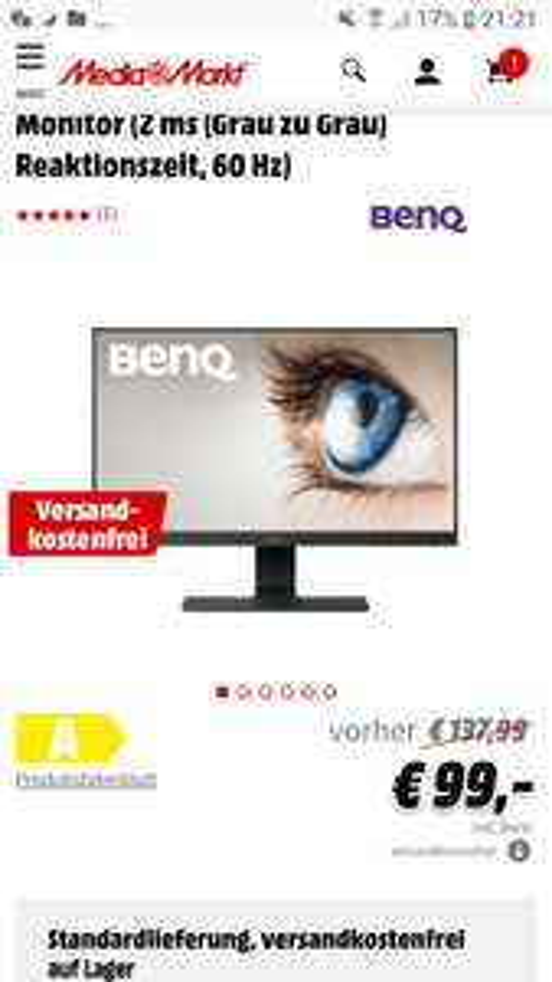 BENQ GL2580HMFull HD Monitor