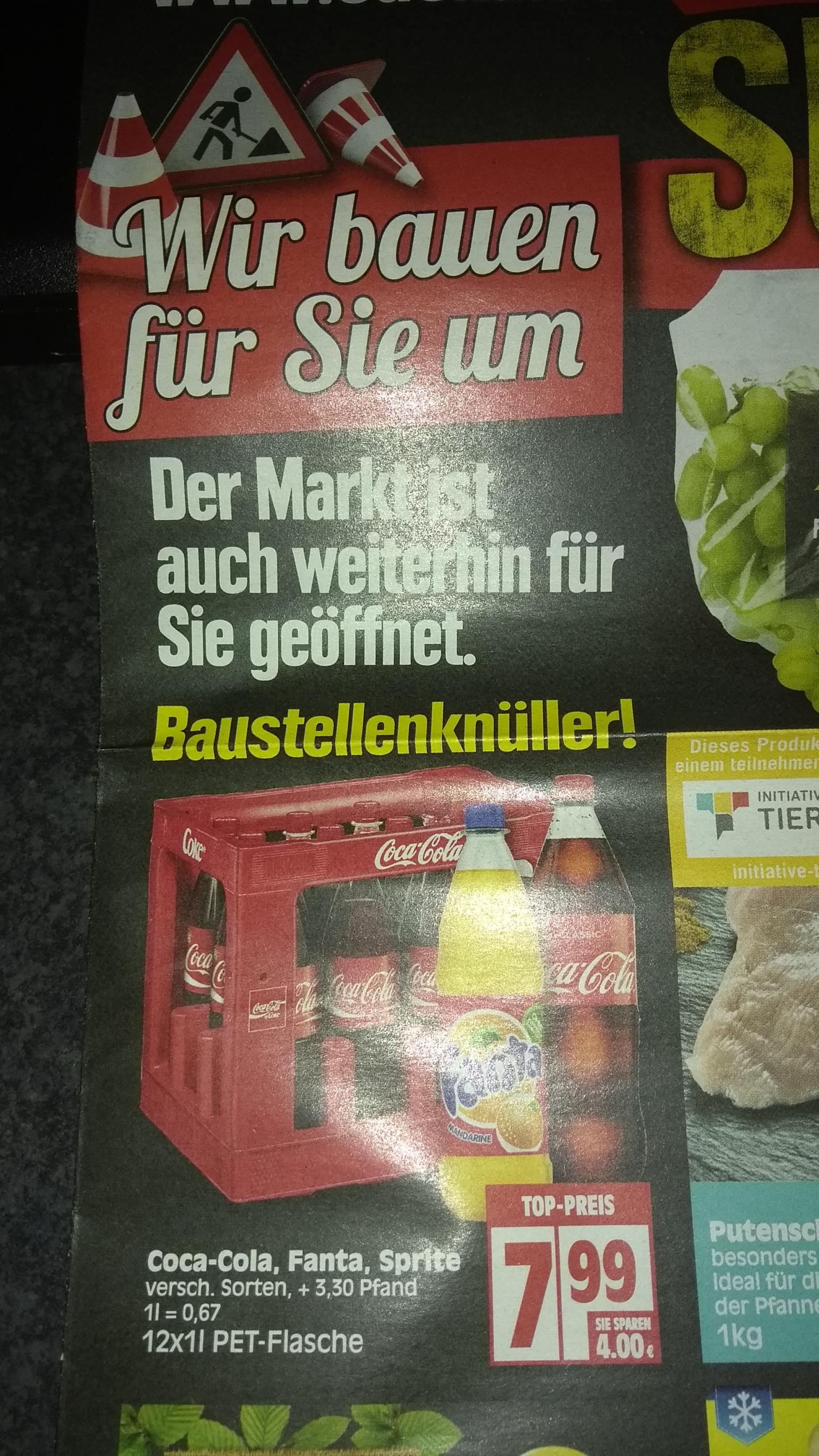 [Lokal Edeka Baddeckenstedt] 12x1l Coca Cola, Fanta, Sprite etc. + 3,30€ Pfand