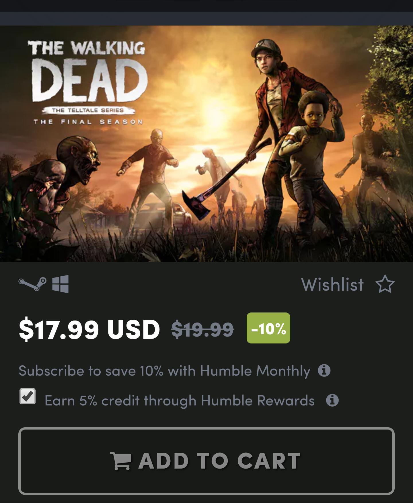 [Telltale Games]The Walking Dead: The final season (über VPN)
