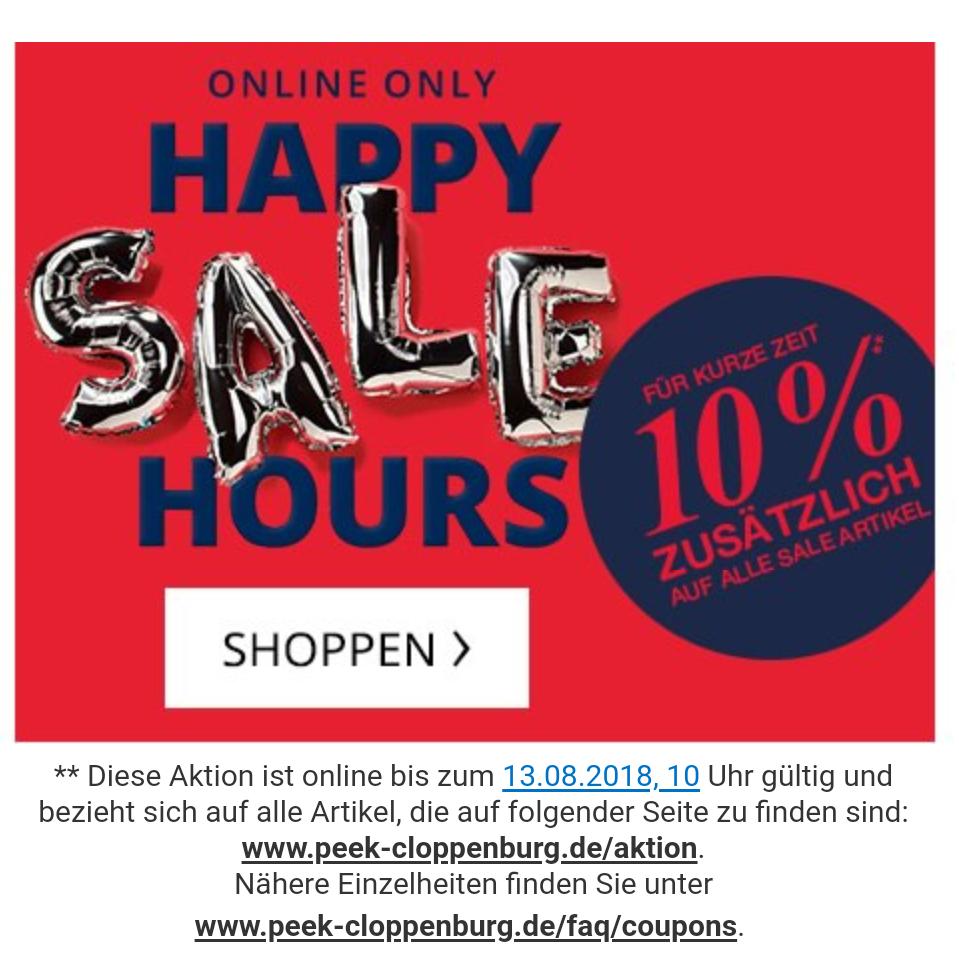 Peek und Cloppenburg Onlineshop - 10% zusätzlich Rabatt auf alle Sale Artikel