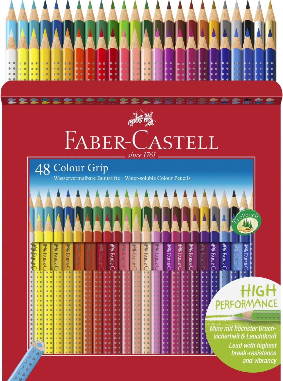Faber-Castell Dreikant-Buntstifte Colour Grip, 48er Kartonetui für 16,49€ (Müller)