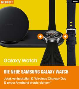 [Saturn] Samsung Galaxy Watch ab 289€ inkl. Wireless Charger Duo + Lederarmband (Masterpass)
