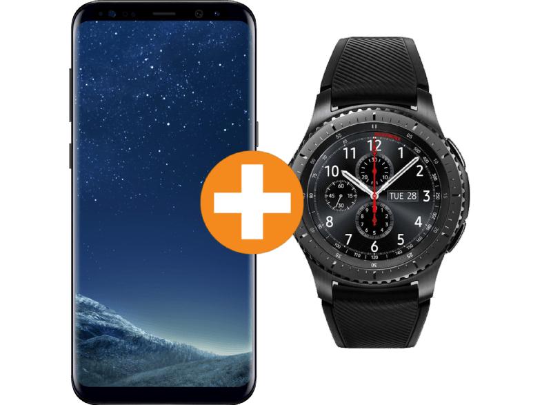 [Saturn Österreich] SAMSUNG Galaxy S8+ Midnight Black mit Smartwatch Gear S3 Frontier Black für 509,-€