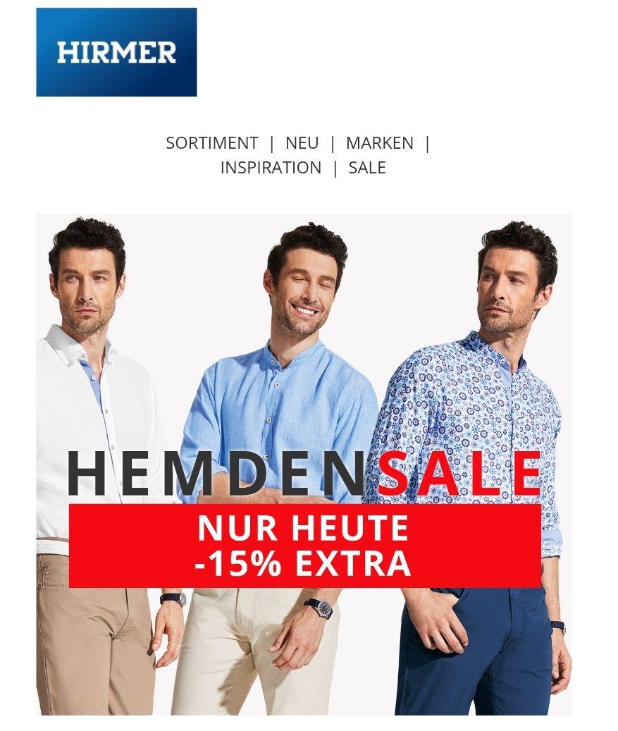 [Hirmer] Hemden Sale - Gutschein auf alle Hemden