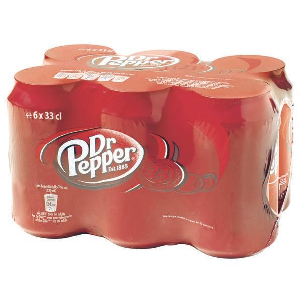 [Grenzgänger FR] Dr. Pepper 6 Dosen (6x33cl) für 2,84€ pfandfrei bei Carrefour Market (0,47€ pro Dose)