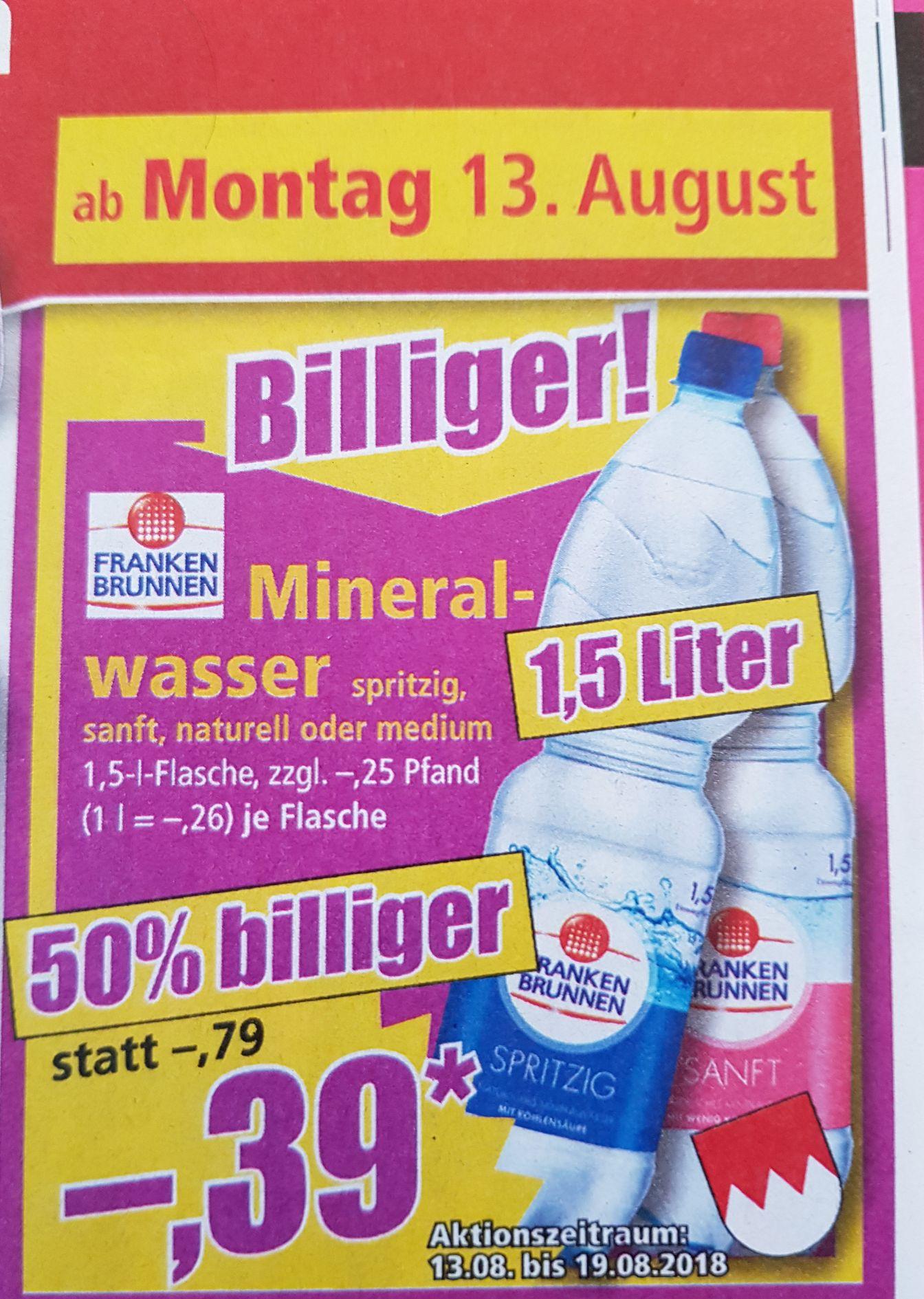 """Mineralwasser """"Franken-Brunnen"""" 1,5 l. Flasche [Norma]"""